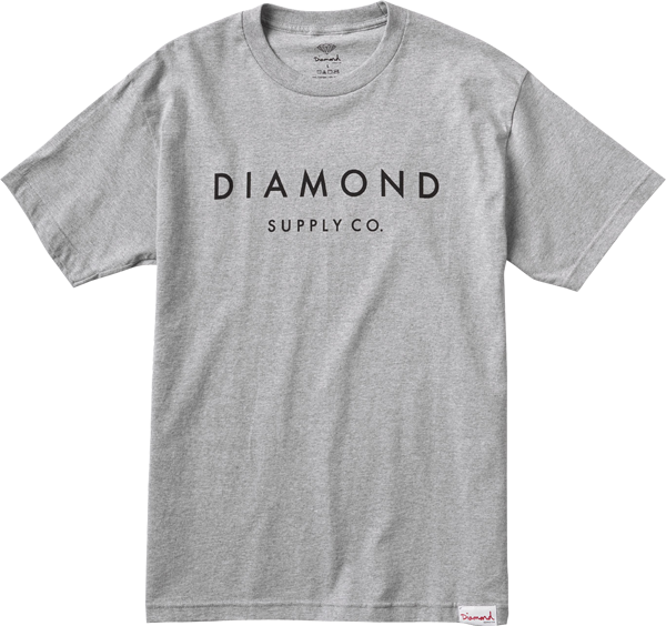 Diamond Stone Cut Ss M-Heather Grey