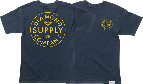 Diamond Stamped Ss Xxl-Navy/Yel