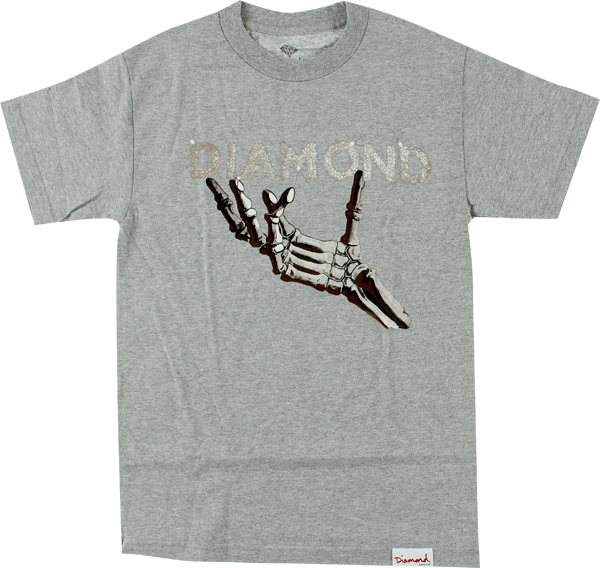 Diamond Styx & Stones Ss Xxl-Heather Grey/Wht