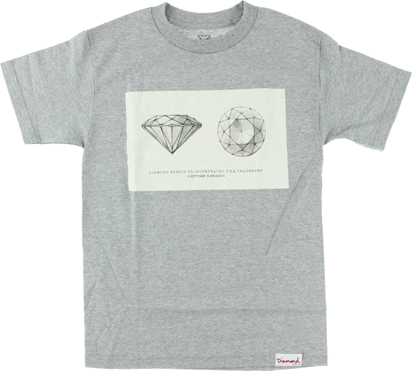 Diamond Trademark Ss L-Heather Grey