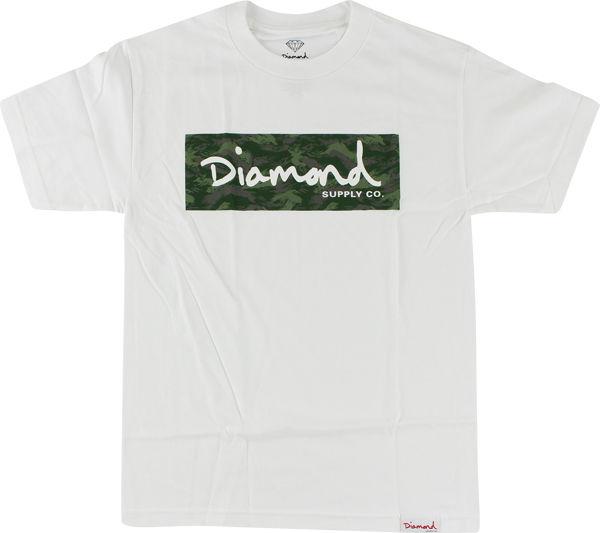 Diamond Tonal Camo Box Ss L-White
