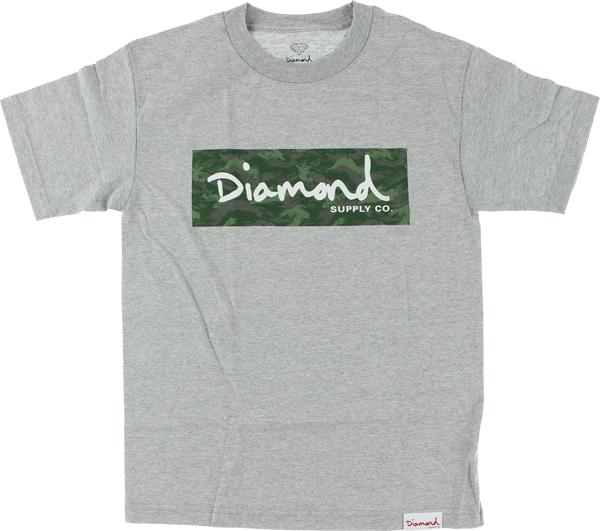 Diamond Tonal Camo Box Ss Xl-Heather Grey