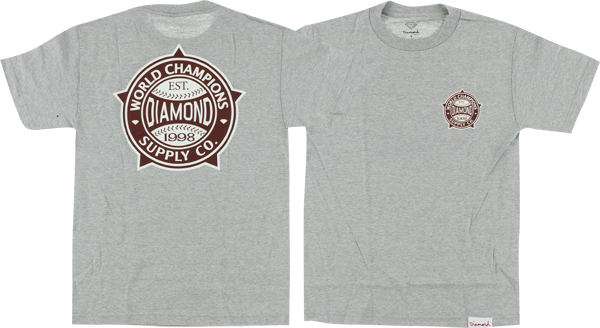Diamond World Renowned Ss Xl-Heather/Burgandy