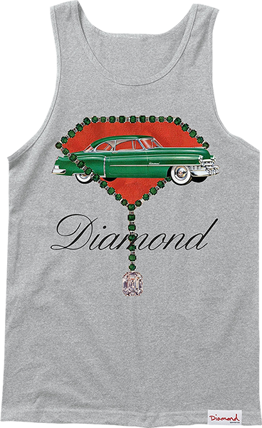 Diamond Caddy Tank Top L-Heather Grey