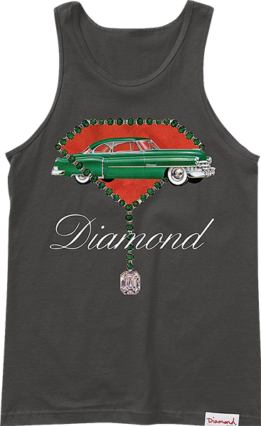 Diamond Caddy Tank Top Xxl-Black
