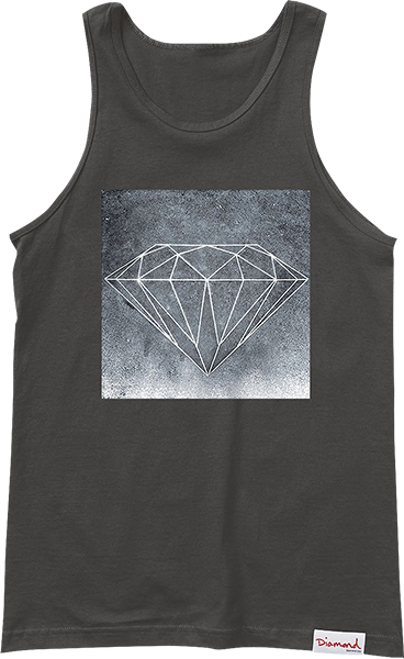Diamond Chalk Tank Top M-Black
