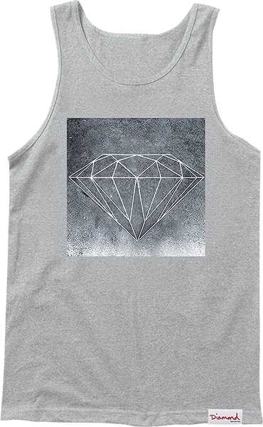 Diamond Chalk Tank Top L-Heather Grey