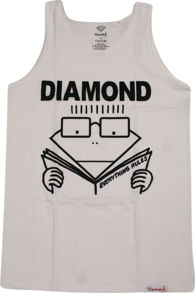 Diamond Everything Rules Tank L-White