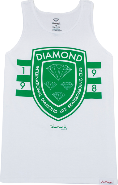 Diamond Int'l Skateboarding Tank M-White