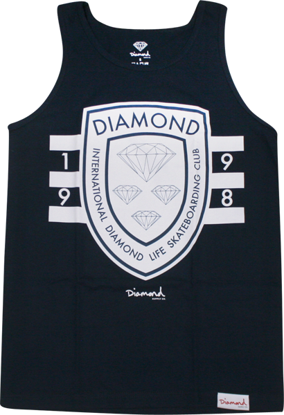 Diamond Int'l Skateboarding Tank Xxl-Navy