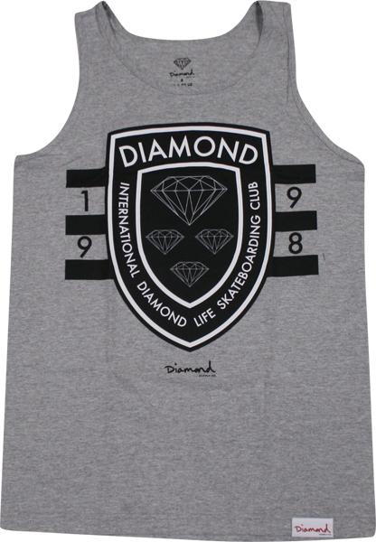 Diamond Int'l Skateboarding Tank Xxl-Heather Grey