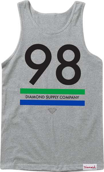 Diamond 98 Supply Tank Xxl-Heather Grey