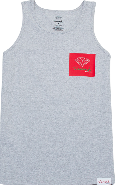 Diamond Og Sign Tank Top Xxl-Heather Grey