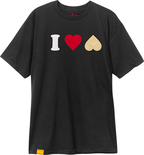 Enj I Heart Hearts Ss Xl-Black