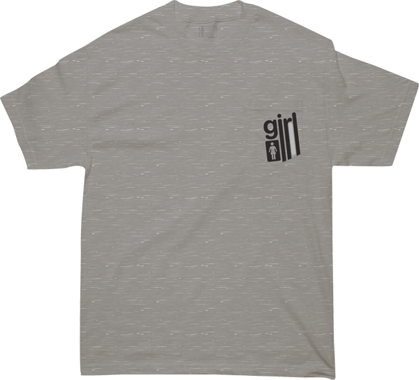 Girl Lanes Pocket Ss S-Heather Grey