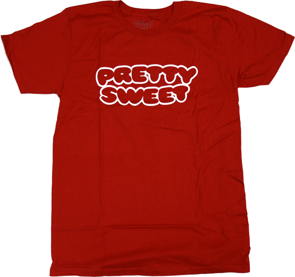 Girl Pretty Sweet Outline Ss Xl-Red Premium
