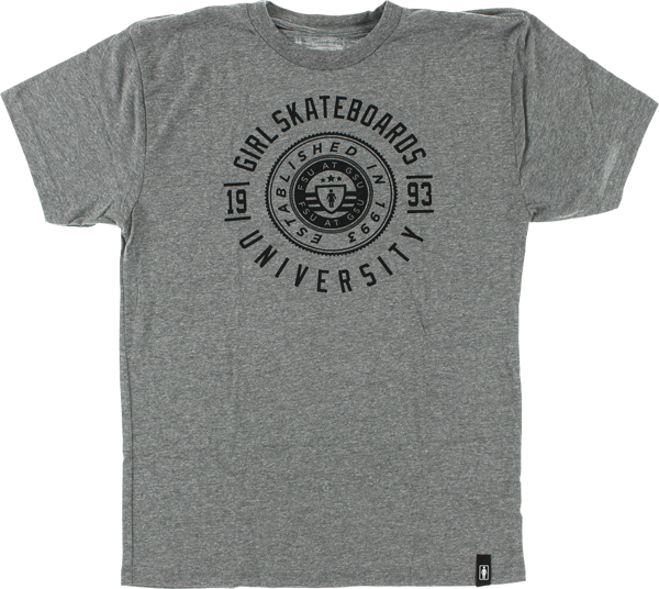 Girl University Ss L-Heather Grey
