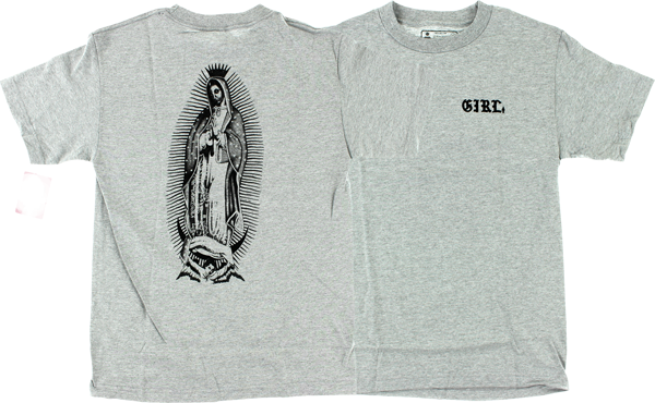 Girl Virgin Mary Ss S-Heather Grey