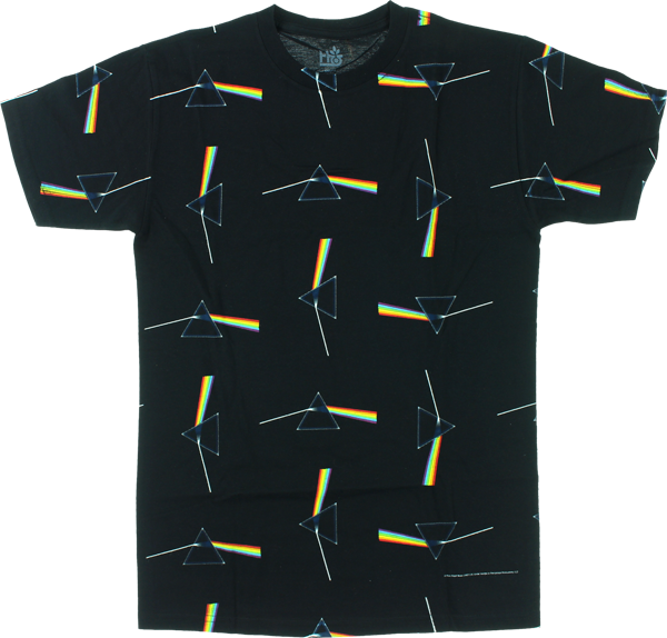 Hab/Pink Floyd Dark Side All Over Print Ss L-Black