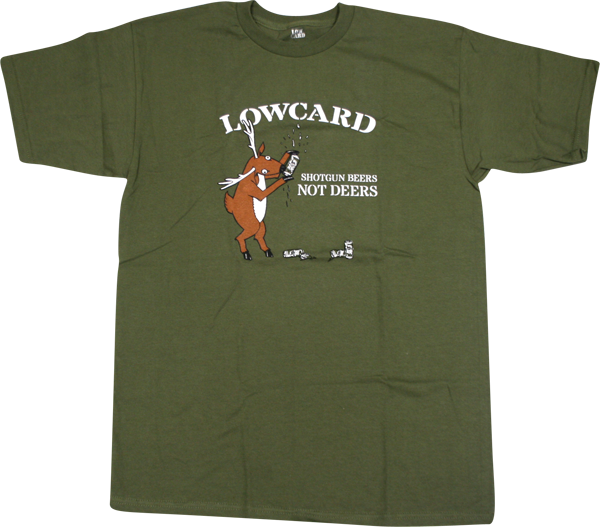 Lowcard Shotgun Beers Ss S-Army Green