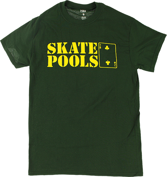 Lowcard Skate Pools Ss M-Forest Green/Yel
