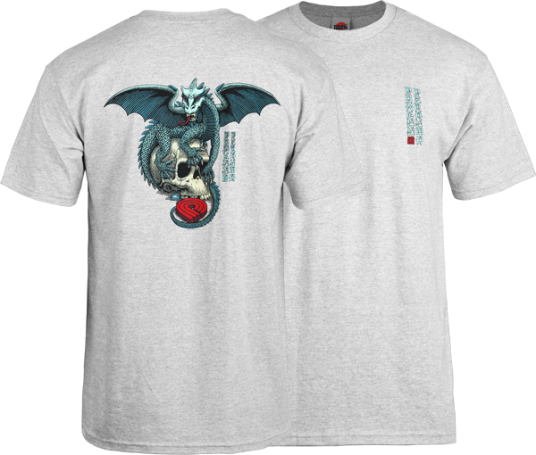 Pwl/P Dragon Skull Ss L-Heather Grey