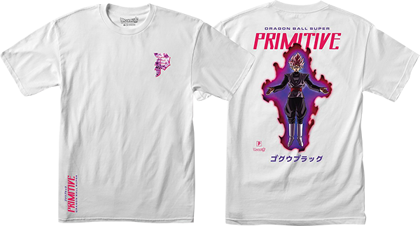 Primitive Dbs Goku Black Rose Ss L-White