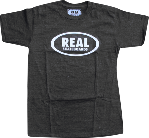 Real Og Oval Ss L-Charcoal Heather/Blk