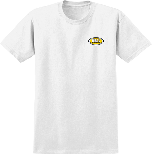Real Oval Small Logo Ss Xl-Wht/Yel
