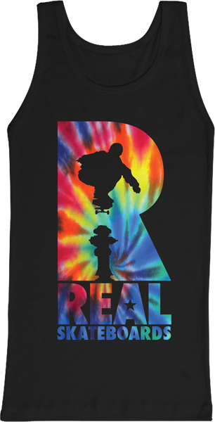 Real Hydrant Trip Tank Top S-Blk/Tie Dye