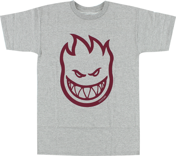 Sf Bighead Ss 2Xl-Heather Grey/Burgundy