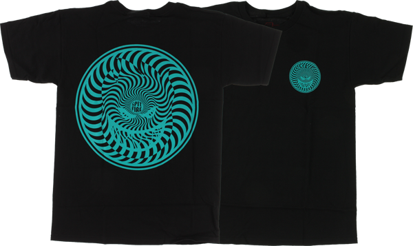 Sf Hypnoswirl Ss M-Blk/Teal