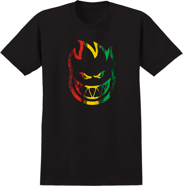 Sf Striped Ss L-Blk/Rasta