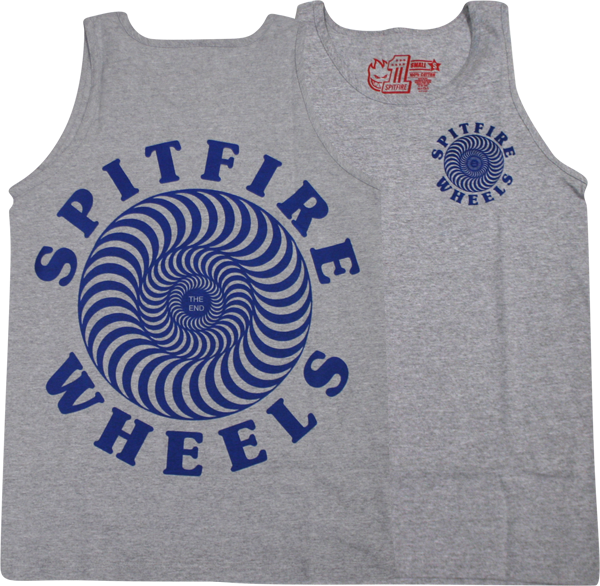 Sf Og Classic Tank Top S-Heather/Navy