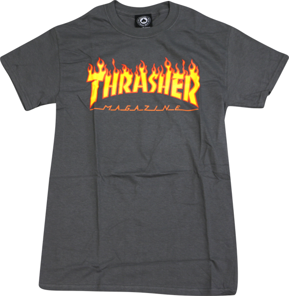 Thrasher Flame Ss L-Grey