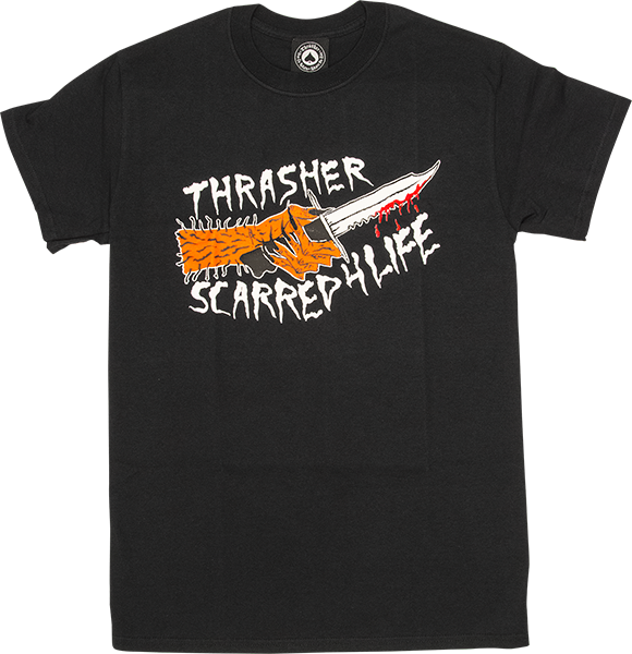 Thrasher Scarred Ss Xl-Black