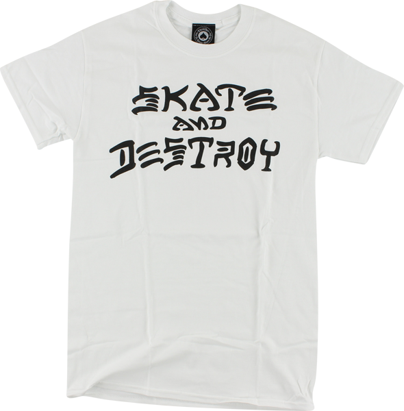 Thrasher Skate & Destroy Ss L-White