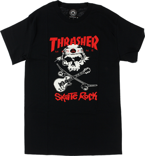 Thrasher Skate Rock Ii Ss M-Black