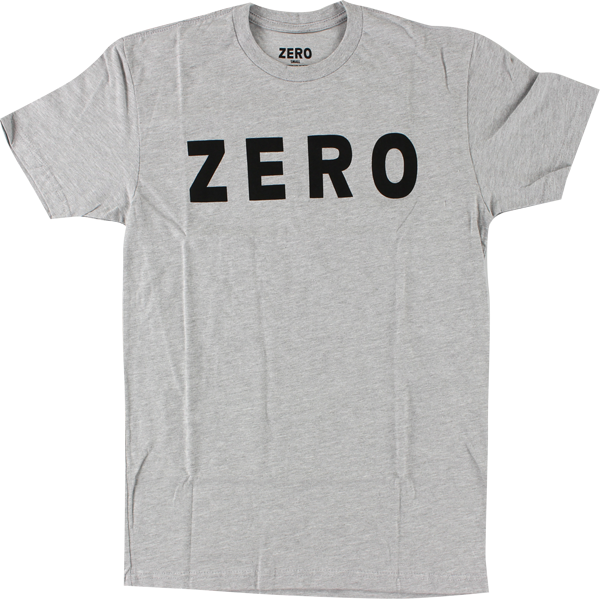 Zero Army Logo Ss Xl-Heather Grey/Blk