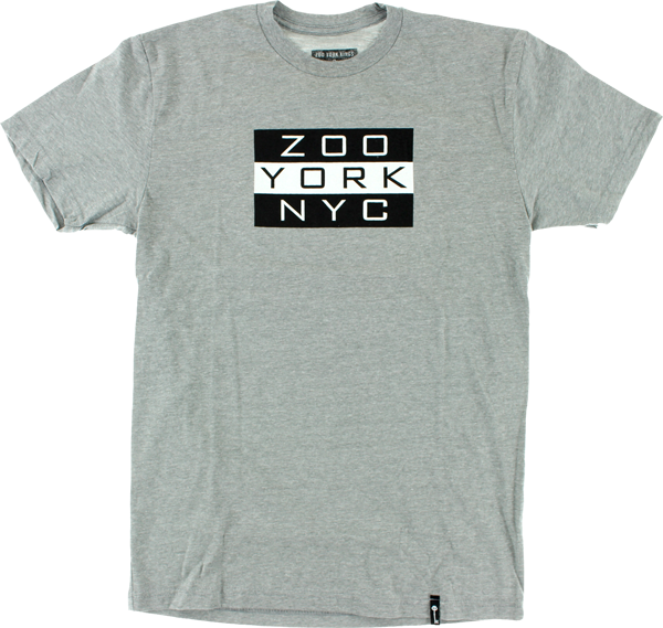 Zoo Kings Golden Era Flag Ss M-Heather Grey
