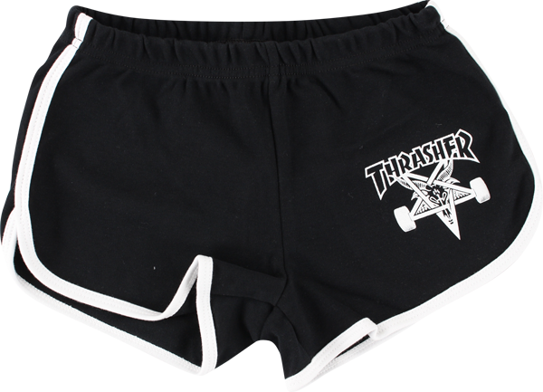 Thrasher Girls Skate Goat Night Shorts Xs-Blk/Wht