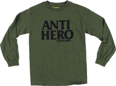 Ah Blackhero L/S Xl-Military Grn/Blk