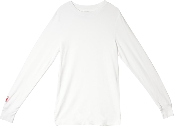 Baker Brand Logo L/S Thermal L-White
