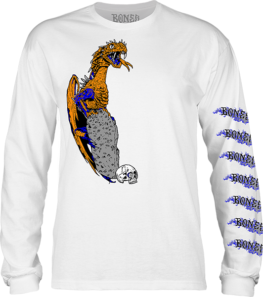 Bones Lockwood Dragon L/S L-White