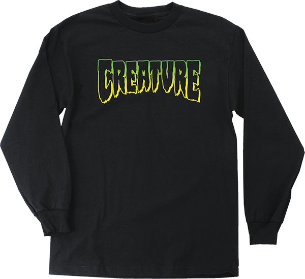 Creature Logo Outline L/S M-Black