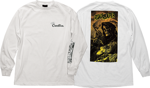 Creature Roadside Terror L/S Xl-White