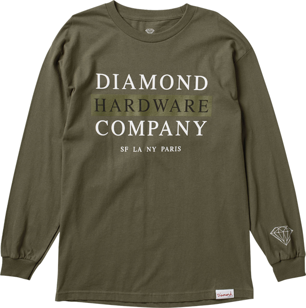Diamond Hardware Stack L/S Xl-Military Grn
