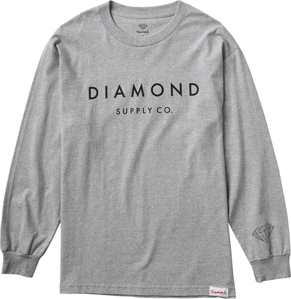 Diamond Stone Cut L/S S-Heather Grey