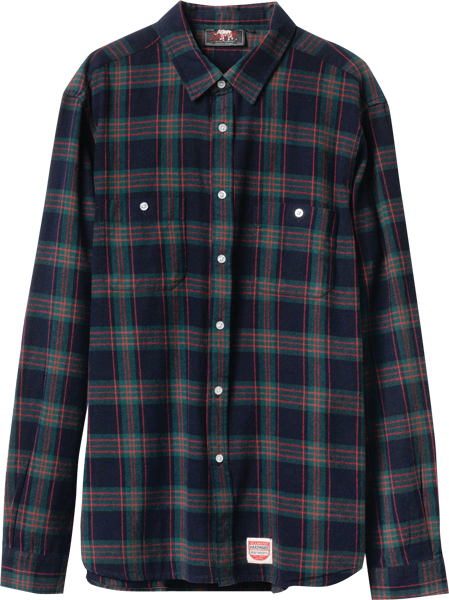 Diamond Ox Flannel L/S Buttonup S-Navy