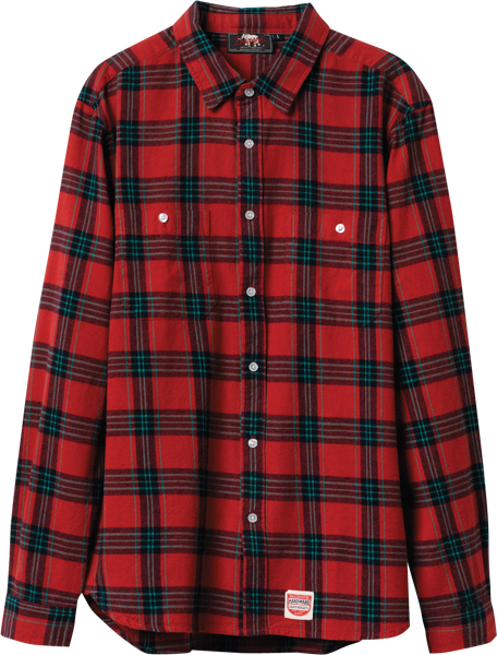 Diamond Ox Flannel L/S Buttonup S-Red
